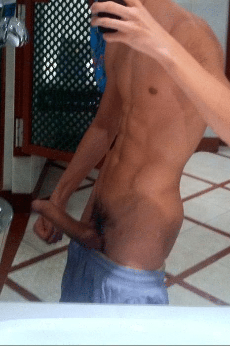 Nude Muscle Boy With A Big Hard Cock