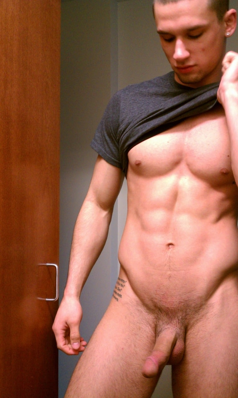 Muscle Boy Showing Off His Body And Cock