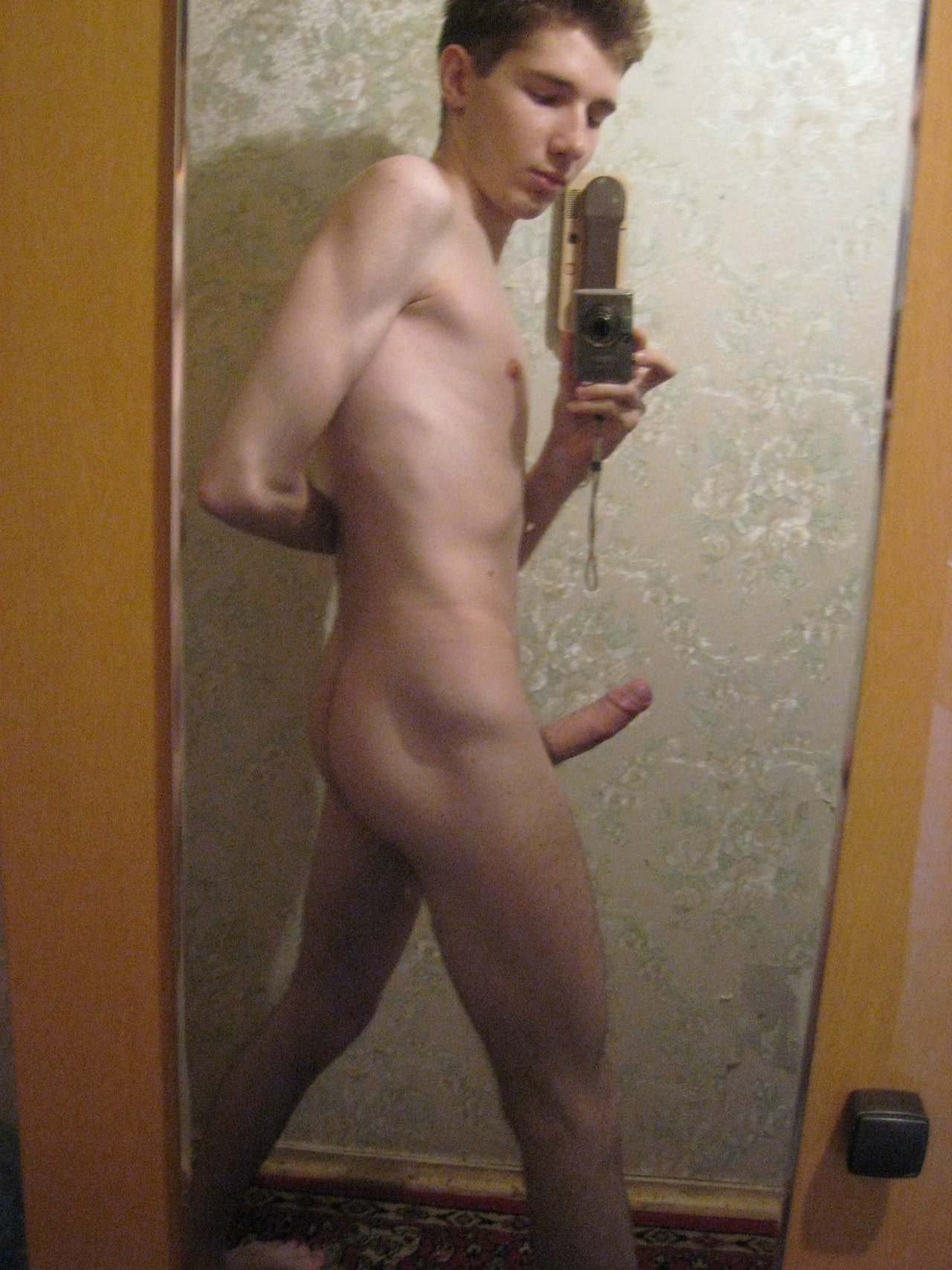 Cute Teen Boy With A Nice Big Boner