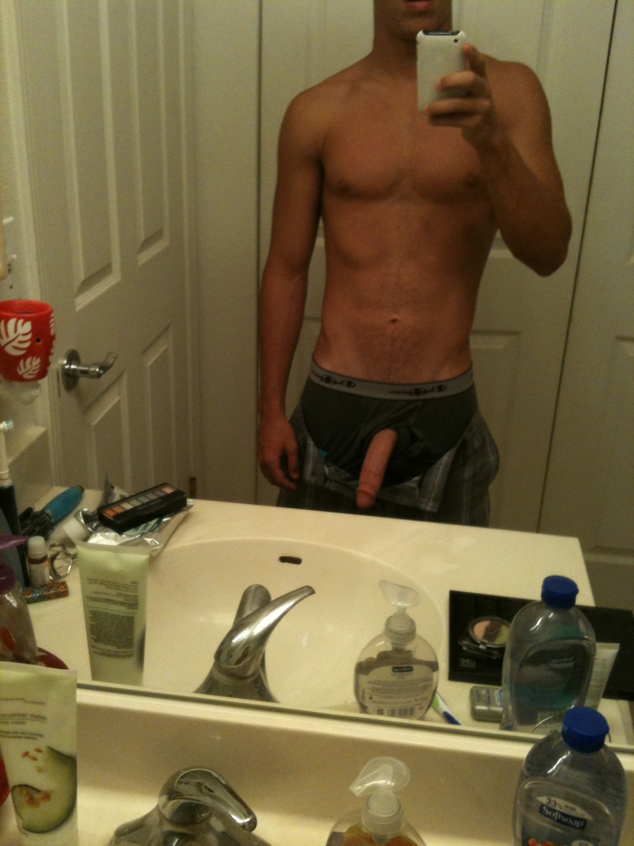 Horny Boy Taking Cock Self Pictures